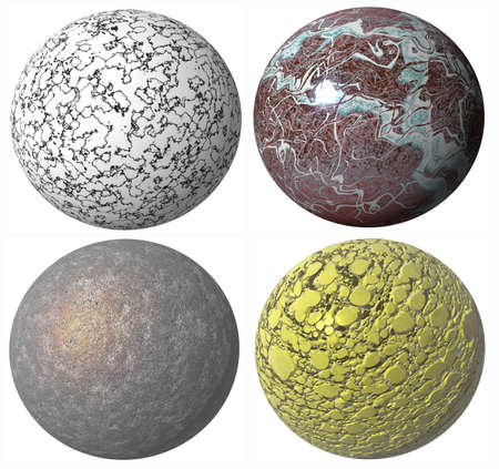 colored abstract pattern stone spheres high quality rendered from 3d photo