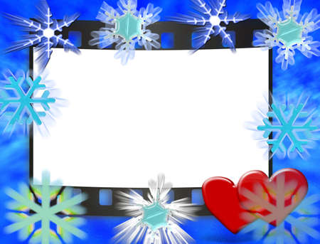 Frame for wedding, anniversary, cristmas or valentine's day invitations with blue ocean and sky background. Stock Photo - 3961255