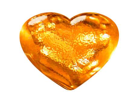 3D golden pattern heart classic love symbol Stock Photo - 4033633