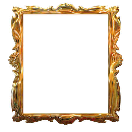 Picture gold frame with a decorative pattern Stock Photo - 4086141