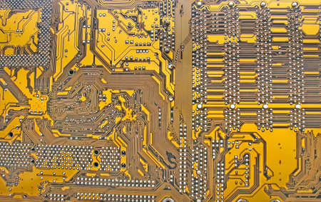 close-up of Computer Circuit Board abstract pattern photo