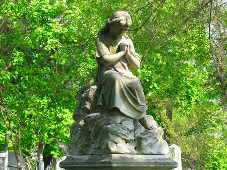 old Angel sculpture statue photo