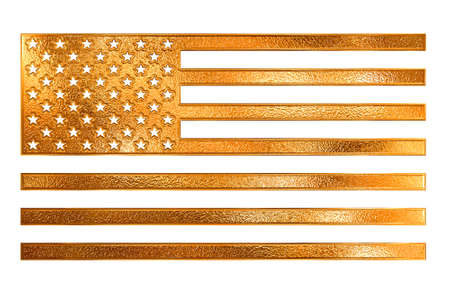 Golden pattern american flag illustration Stock Illustration - 4254943