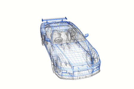 3d concept model of modern car project photo