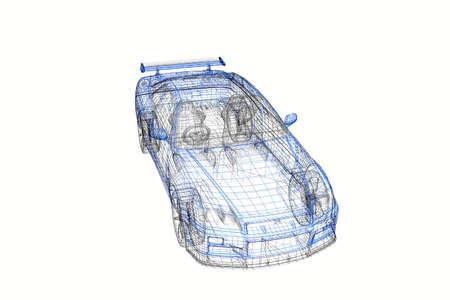 Modèle 3D concept de projet de la voiture moderne