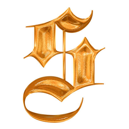 hot surface: Golden pattern gothic letter S