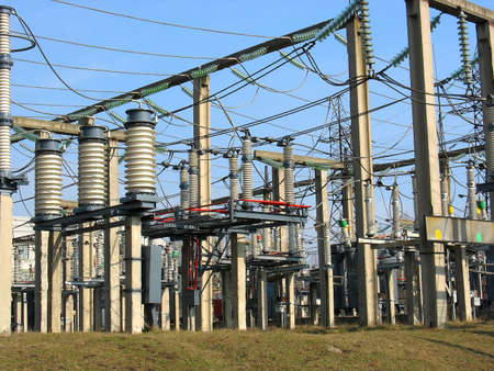 High voltage converter equipment at a power plant Stock Photo - 4425368
