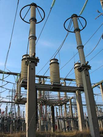 converter: High voltage converter equipment at a power plant
