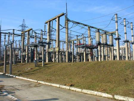 transformator: High voltage converter equipment at a power plant