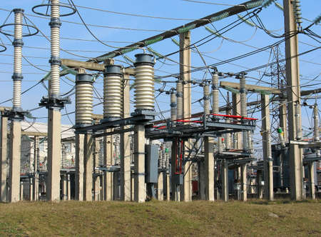 High voltage converter equipment at a power plant Stock Photo - 4463898