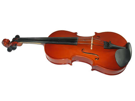 recital: Musical classic violin isolated on white background