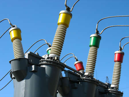 High voltage electric converters details at a power plant Stock Photo - 4626007
