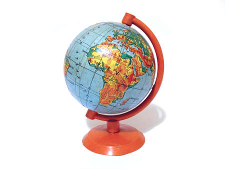 Old school globe on a support isolated over white background Stock Photo - 5002535