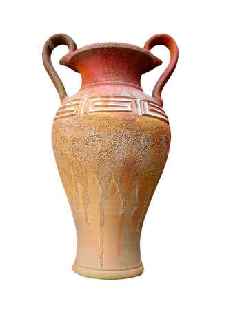 vintage pattern decor vase isolated over white background Stock Photo - 5728001