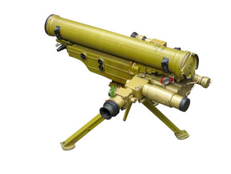 launcher: russian rocket launcher isolated over white background Stock Photo
