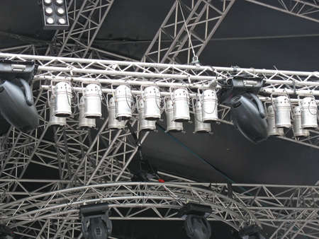 structures of stage illumination lights equipment and projectors Stock Photo - 5728040