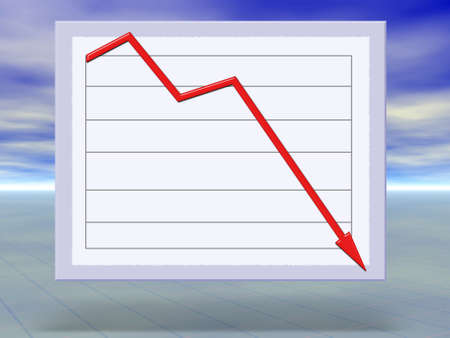 Abstract concept illustration of financial crisis graphs crashing illustration
