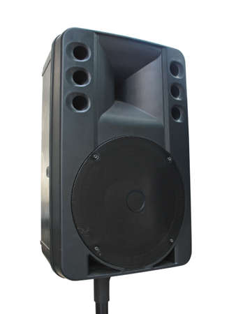 old powerfull concerto audio speaker isolated on white background Stock Photo - 7758390