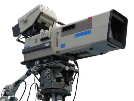 TV professionele studio digitale videocamera geïsoleerd op witte achtergrond