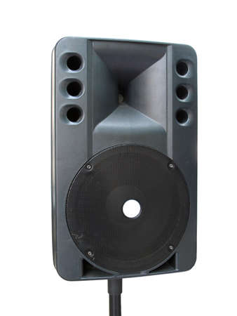 old powerfull concerto audio speaker isolated on white background photo