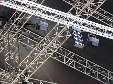structures of stage illumination lights equipment and projectors Stock Photo - 8584805