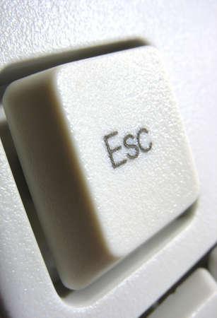 esc: Macro of escape key on white computer keyboard