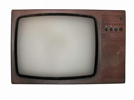 Vintage tv vieux isolé sur fond blanc