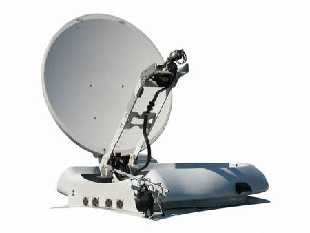 satellite dish antenna isolated on white background  photo