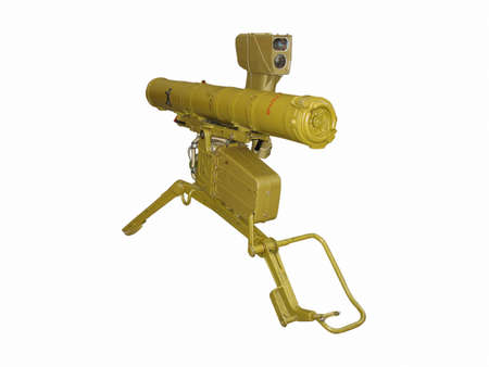 launcher: russian antitank rocket launcher isolated over white background