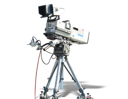 ccd camera: TV Professional studio digital video camera isolated on white background