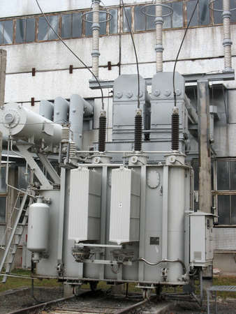 converter: Huge industrial high voltage converter at a power plant