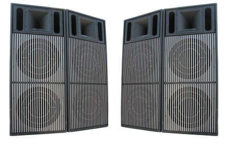Old powerful stage concerto audio speakers isolated on white background Stock Photo - 12796901
