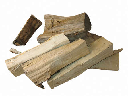 cut logs fire wood isolated over white background Stock Photo - 13294168