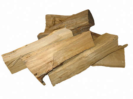 cut logs fire wood isolated over white background Stock Photo - 13615047