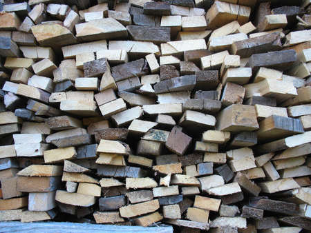Background of dry chopped firewood logs in a pile Stock Photo - 15147530