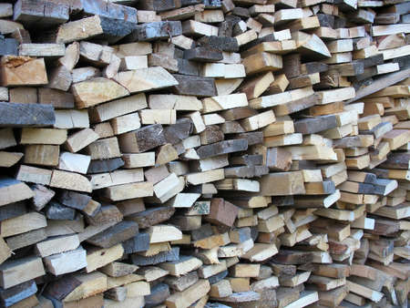 Background of dry chopped firewood logs in a pile Stock Photo - 15310523