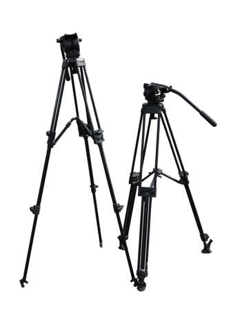 trivet: tripod for photo and video cameras isolated over white background Stock Photo