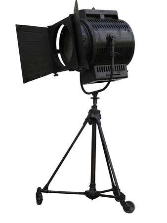 Studio spotlight lighting equipment isolated on white background photo