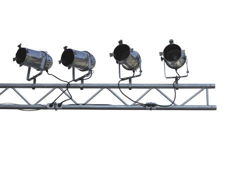 reflector: Studio spotlight lighting equipment isolated on white background