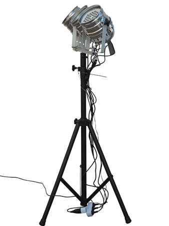 lighting equipment: Studio spotlight lighting equipment isolated on white background