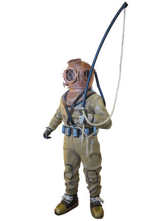 diving: Diving suit equipment isolated over white background