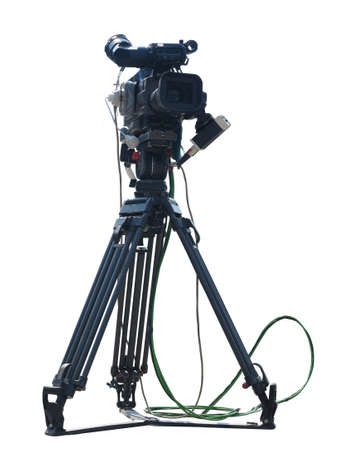 video camera: TV Professional studio digital video camera isolated on white background