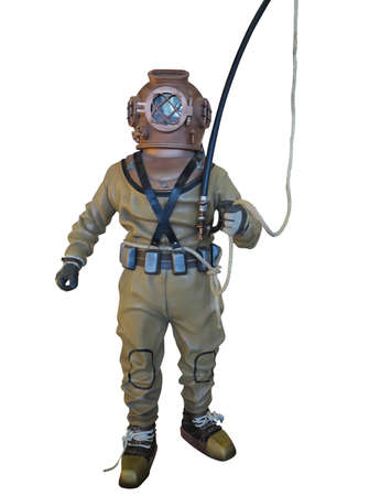 divers: Diving suit equipment isolated over white background