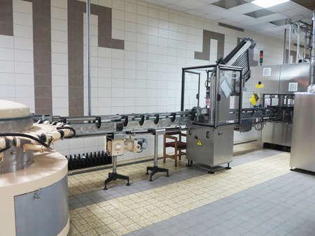 vinery: Modern line for bottling wine in a vinery Stock Photo