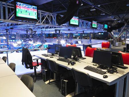 """2015.05.04, MOLDAWIEN """"Publika TV"""" NEWS Studio mit Licht Ausrüstung bereit für recordind Release."""