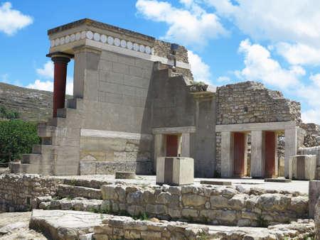 minoan: Ruins of the Minoan Palace of Knossos in Heraklion, Crete, Greece