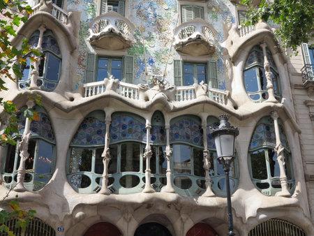 05.07.2016, Barcelona, Spain: Batllo House,  Facade and windows.