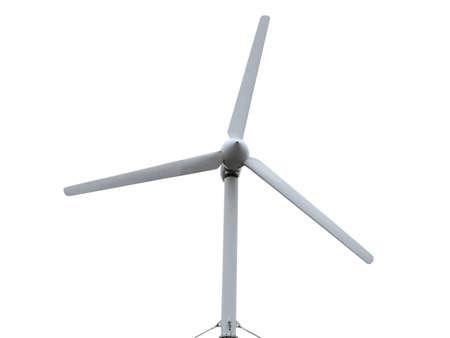 turbine: Renewable Energy Concept Wind turbine isolated over white background. Stock Photo