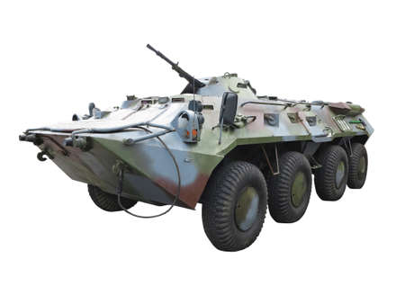 Russian Army BTR-82A wheeled armoured vehicle personnel carrier isolated over white background Stock fotó