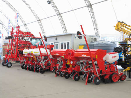 seeding: 18.03.2017, Moldova, Chisinev: New plow and agricultural implements at a farmer exhibition